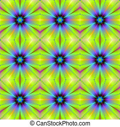 Seamless Floral Delight - Digital abstract fractal image ...