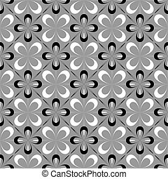 Seamless floral design. Decorative pattern. Vector art.