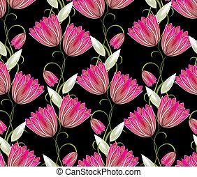 Seamless floral designer background