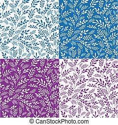 seamless, floral, experiência., vetorial, ilustrations