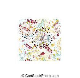 seamless, floral, fond