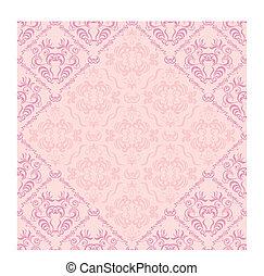Seamless floral frame