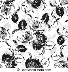 seamless, floral, fundo