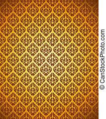 seamless floral gold background