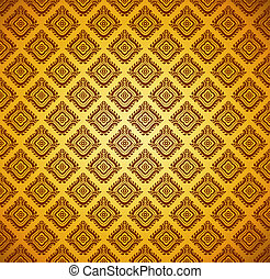 seamless floral golden background