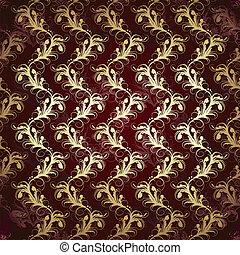 seamless floral golden pattern