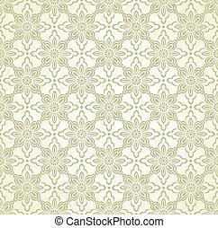 Seamless floral golden wallpaper