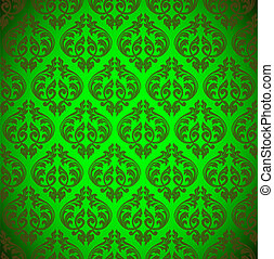 seamless floral green background