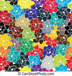Seamless floral hippie design