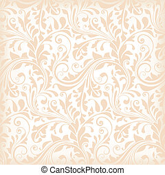 seamless, floral, papel parede