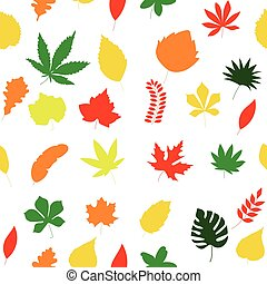 Seamless floral pattern. autumn leaves texture.