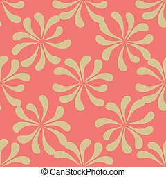 Seamless floral pattern. Background with leaves
