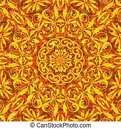 Seamless Floral Pattern - Seamless Abstract Background with...