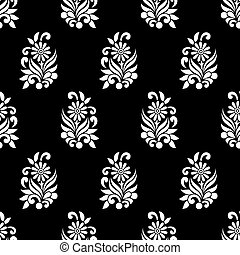 Seamless floral pattern for textile design