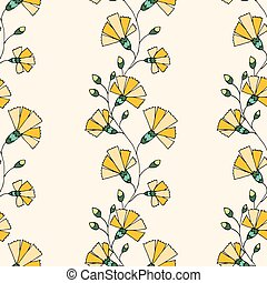 Floral Pattern - Seamless Floral Pattern. Hand Drawn Floral...