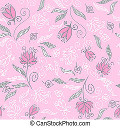 Seamless floral pattern with cute tiny flowers