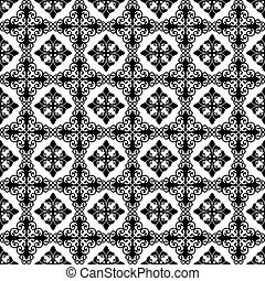 Seamless floral pattern - Seamless pattern of hearts and...
