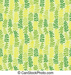 Seamless floral pattern in green colors.