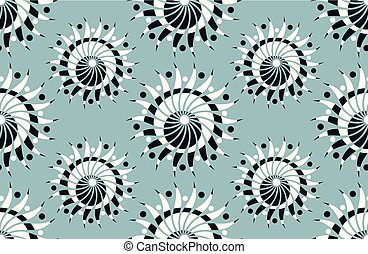 Seamless floral pattern in spiral shape