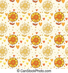 Seamless floral pattern in vector.