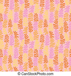 Seamless floral pattern in warm colors.