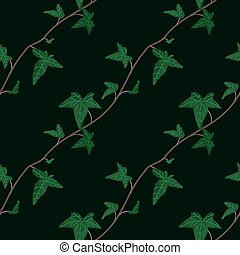 Seamless floral pattern. Ivy elements background