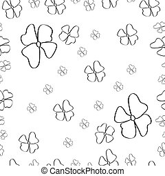 Seamless floral pattern on white.