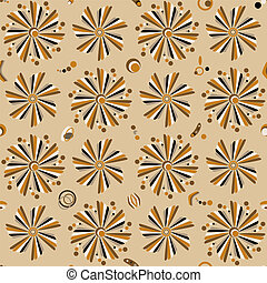 Seamless floral pattern. Retro
