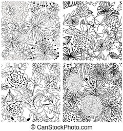 seamless floral pattern - Seamless vector floral pattern. ...