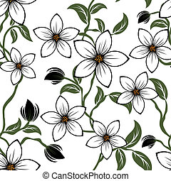 seamless floral pattern - Seamless vector floral pattern....