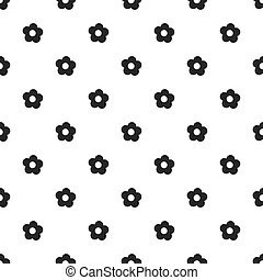 Seamless floral pattern spring summer abstract vector design decoration white background with black flowers black and white