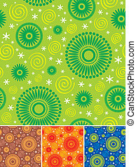 Seamless floral pattern - vector background