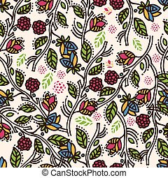 Seamless floral pattern .Vector