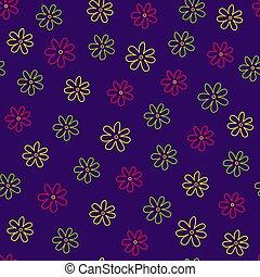 Seamless floral pattern, vector illustration