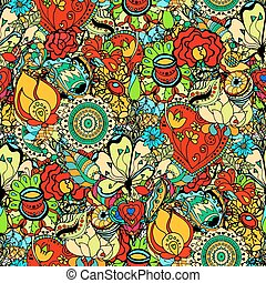 Floral Pattern - Seamless Floral Pattern. Vector...