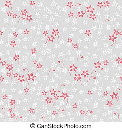 Seamless floral pattern. Wallpaper in the style of Baroque.