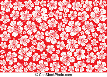 hibiscus pattern - Seamless floral pattern whit hibiscus...
