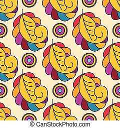 Seamless floral pattern with abstract flowers.