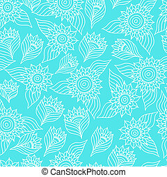 Seamless floral pattern with lace ornament