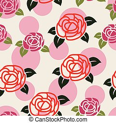 seamless floral pattern with symbols of roses