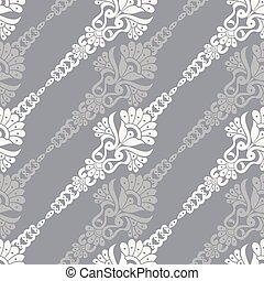 Seamless floral pattern with traditional Asian design elements