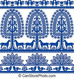 Seamless floral Polish folk pattern