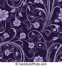 Seamless floral purple flower vector wallpaper pattern.