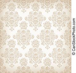 seamless, floral, retro, pattern.