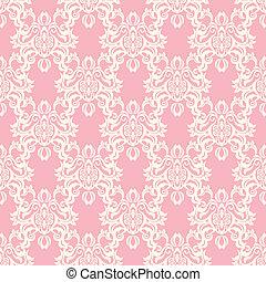 Seamless floral retro pattern