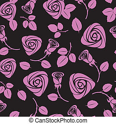 seamless floral rose vector background