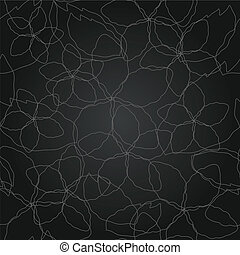 Seamless floral silver line pattern