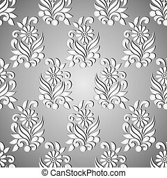 Seamless floral silver pattern