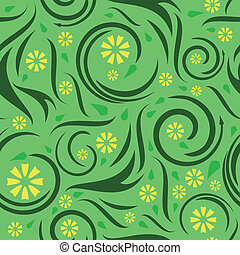 Seamless floral swirl background