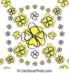 Seamless floral textile pattern.